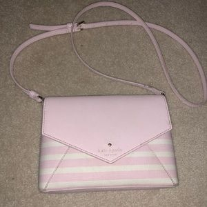 Kate Spade Pink White Crossbody Purse